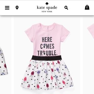 KATE SPADE NEW babies' here comes trouble set